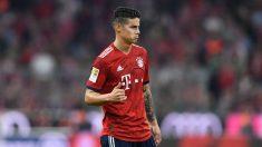 James Rodríguez durante un partido del Bayern de Múnich (AFP).