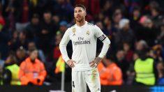 Sergio Ramos, durante un partido con el Real Madrid. (Getty)