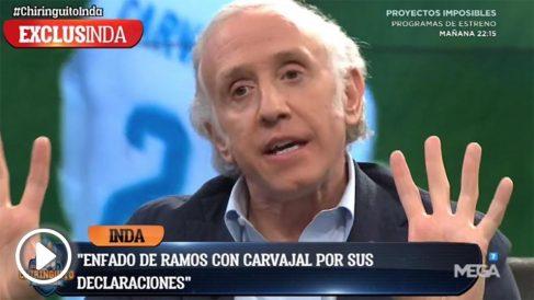 Sergio Ramos se ha enfadado de lo lindo con las palabras de Carvajal.
