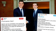 Los tuits del PSOE y del PP con los que se han enzarzado en Twitter