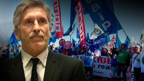 Marlaska judicializa la huelga de prisiones y expedienta a los funcionarios