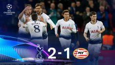 Champions League 2018: Tottenham – PSV | Partido de fútbol hoy, en directo.