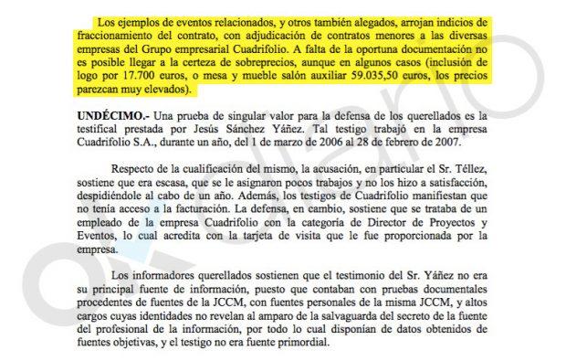 Sentencia del Juzgado de lo Penal nº 13 de Madrid sobre el caso Cuadrifolio.