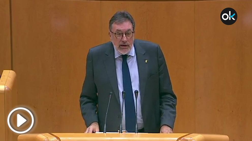 El portavoz del PDeCAT en el Senado, Josep Lluís Cleries.
