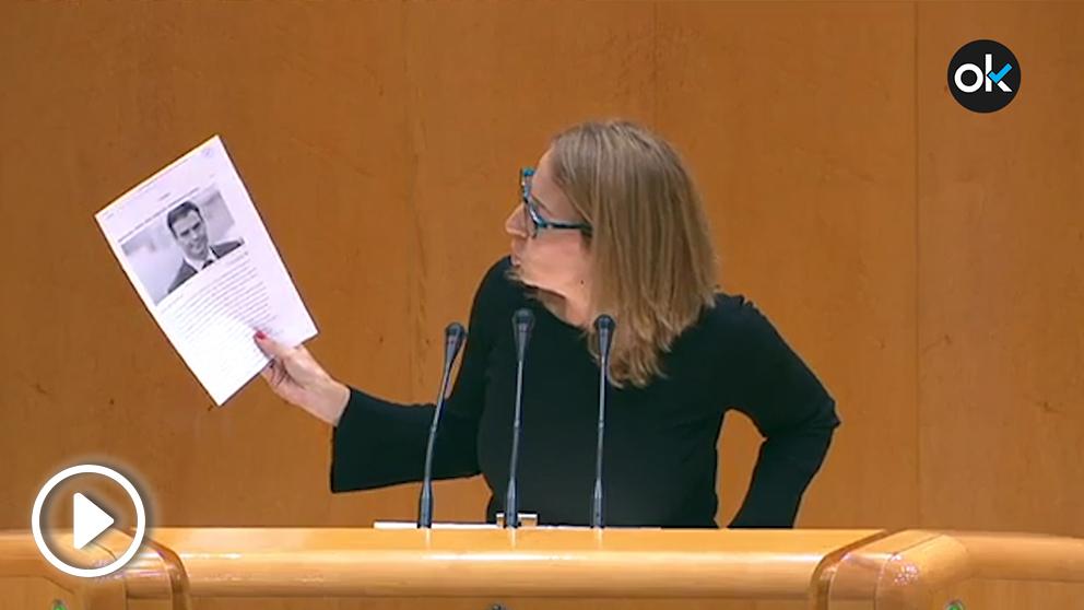 La senadora socialista María del Carmen Iglesias, este miércoles.