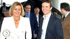Cospedal y Casado en el congreso del PP de Castilla-La Mancha (Foto: EFE).