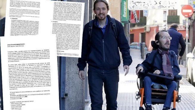 Un miembro de Podemos denuncia las triquiñuelas de Echenique para manipular primarias