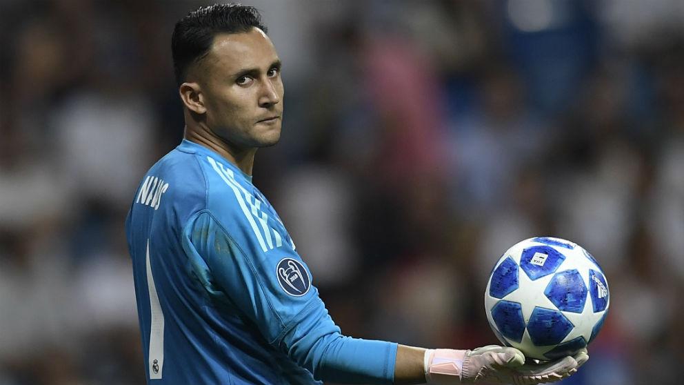 Keylor Navas, en un partidlo de Champions. (AFP)