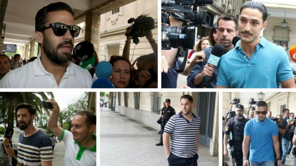 Imágenes de archivo de los integrantes de 'La Manada'.