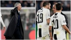 Jose Mourinho la lió a pie de campo en el Juventus Stadium.
