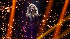 Noelia durante su actuación en la Gala 7 de 'OT 2018'. (Foto: RTVE)