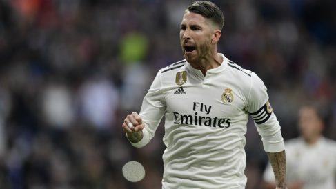 Sergio Ramos, en un partido de esta temporada. (AFP)