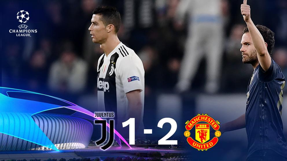 El Manchester United se impone a la Juventus en Turín (1-2).