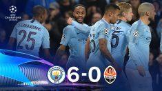El City goleó al Shakthar en el Etihad. (AFP)