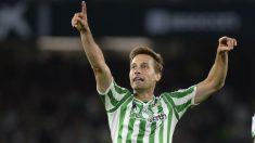 Sergio Canales celebra un gol. (AFP)