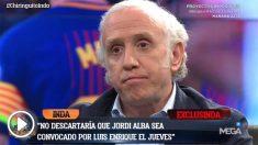 Eduardo Inda adelantó en El Chiringuito la vuelta de Jordi Alba a la selección.