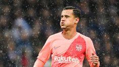 Coutinho durante un partido con el Barcelona. (AFP)