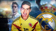 Zidane no cuenta con James Rodríguez y el Madrid hará caja con él.
