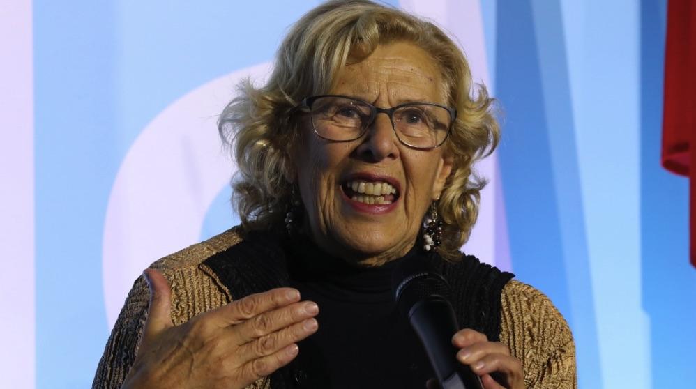 Manuela Carmena durante una intervención. (Foto. Madrid)