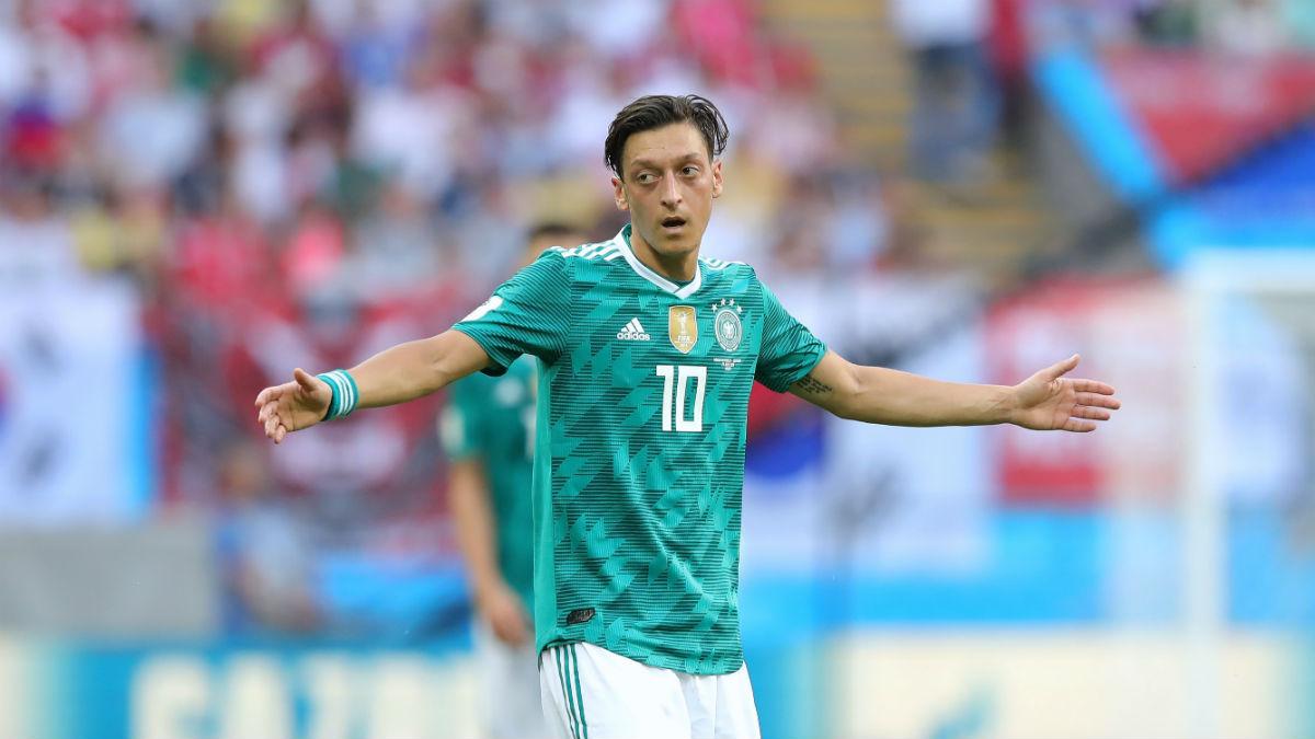 Ozil, durante su último partido con Alemania en Rusia 2018, ante Corea del Sur (Getty).