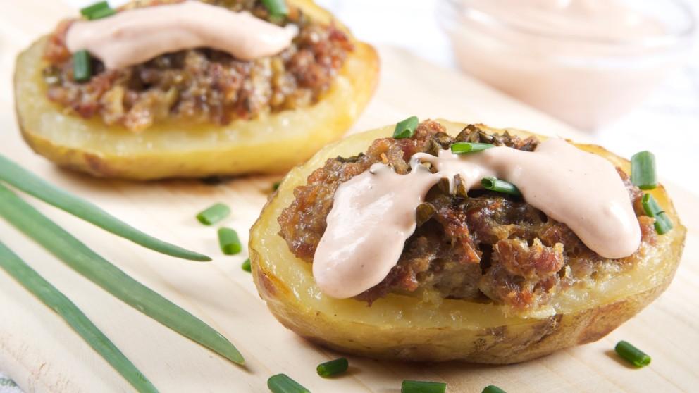 Receta de patatas rellenas de morcilla