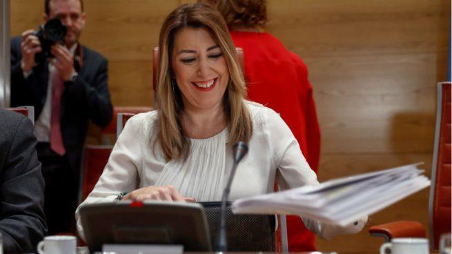 La presidenta de la Junta de Andalucía, Susana Díaz, en el Senado. (Foto: EFE)
