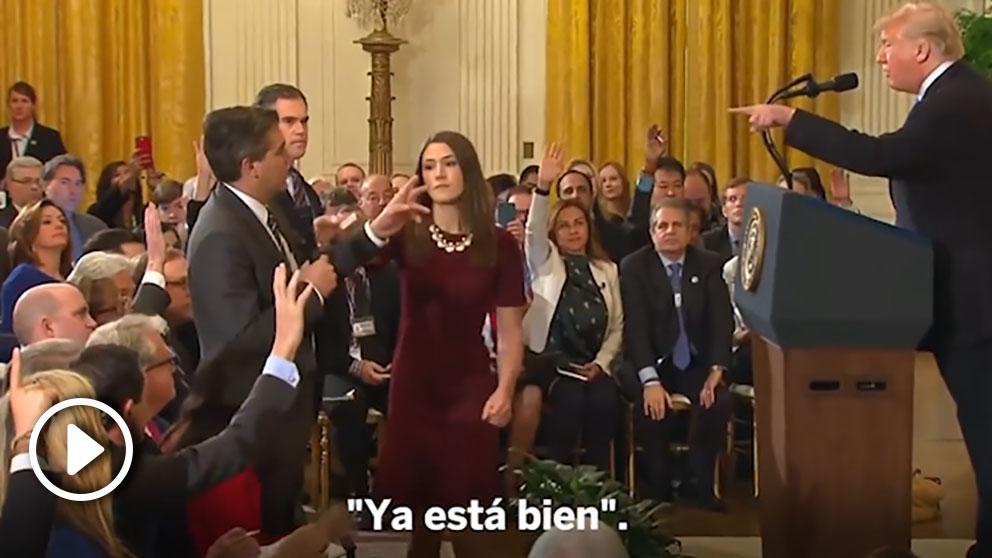 Donald Trump pierde los papeles con un periodista de la CNN. (Vídeo: Atlas)