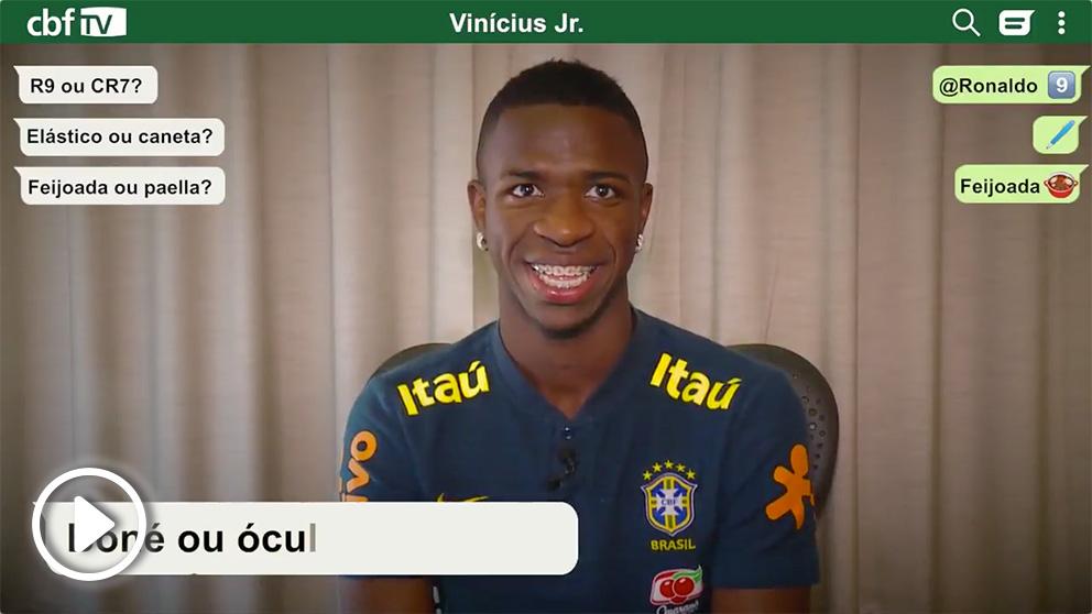 Vinicius se moja en el test de la Federación Brasileña.