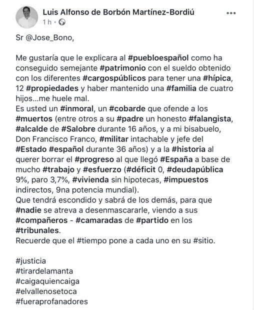 Luis Alfonso de Borbón llama