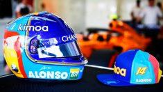 El casco que lucirá Fernando Alonso en el GP de Abu Dhabi. (@alo_oficial)