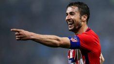 Gabi celebra su gol en la final de la Europa League. (Getty)
