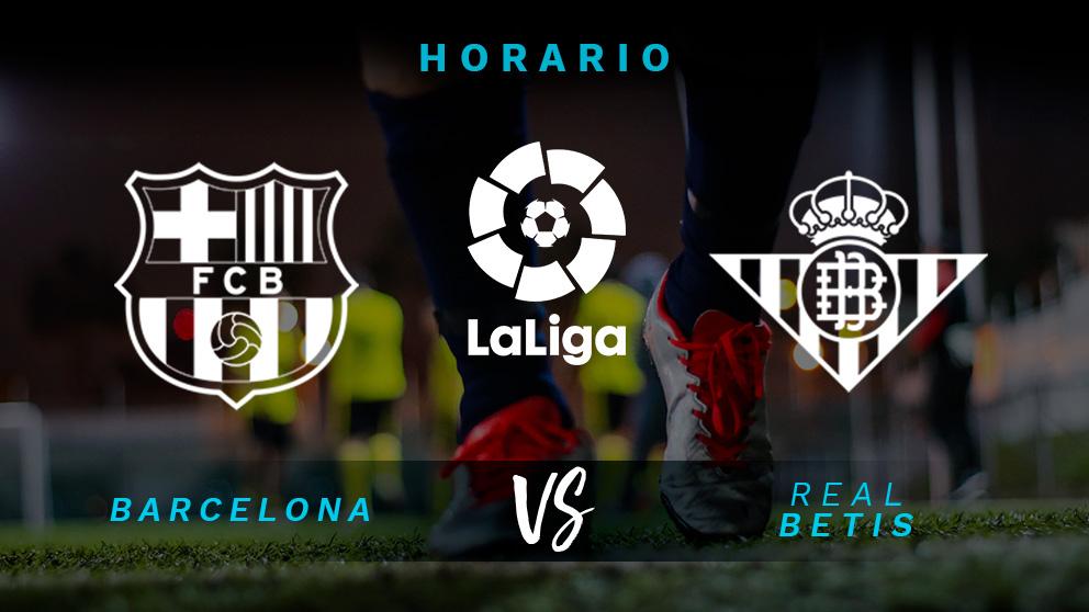 Liga Santander 2018: Barcelona – Betis  Partido de fútbol hoy, en directo.