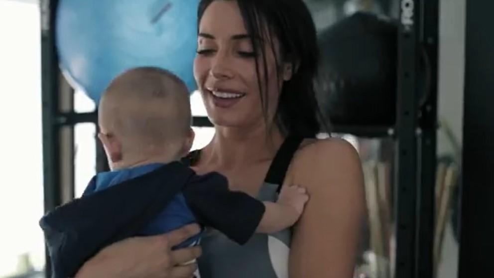 Pilar Rubio comparte la forma de hacer ejercicio con el bebé