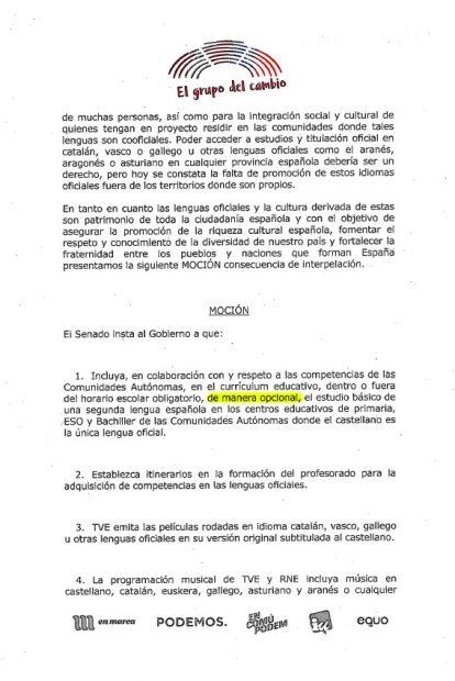 PSOE y Podemos quieren que los niños de toda España hablen catalán y euskera