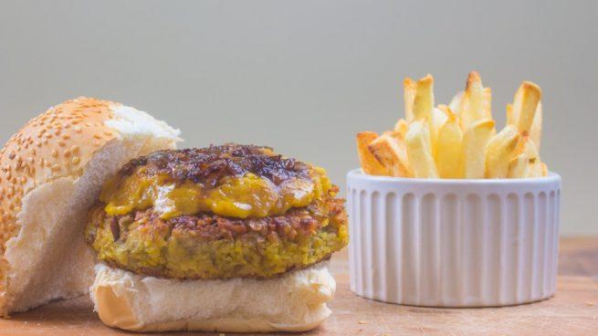hamburguesa de quinoa y lentejas