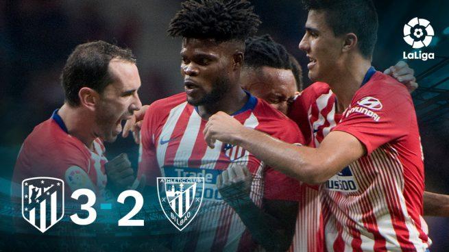 Godín rescata al Atlético