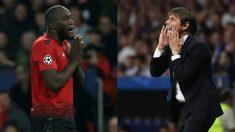 Lukaku y Conte. (AFP)