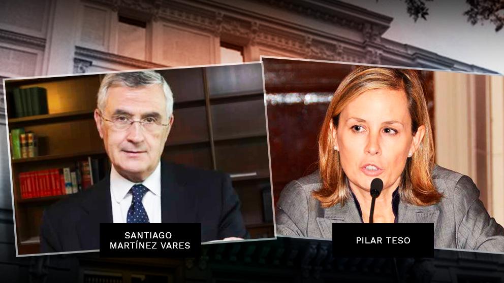 Los magistrados Santiago Martínez Vares (APM) y Pilar teso (de Jueces y Juezas por la Democracia).