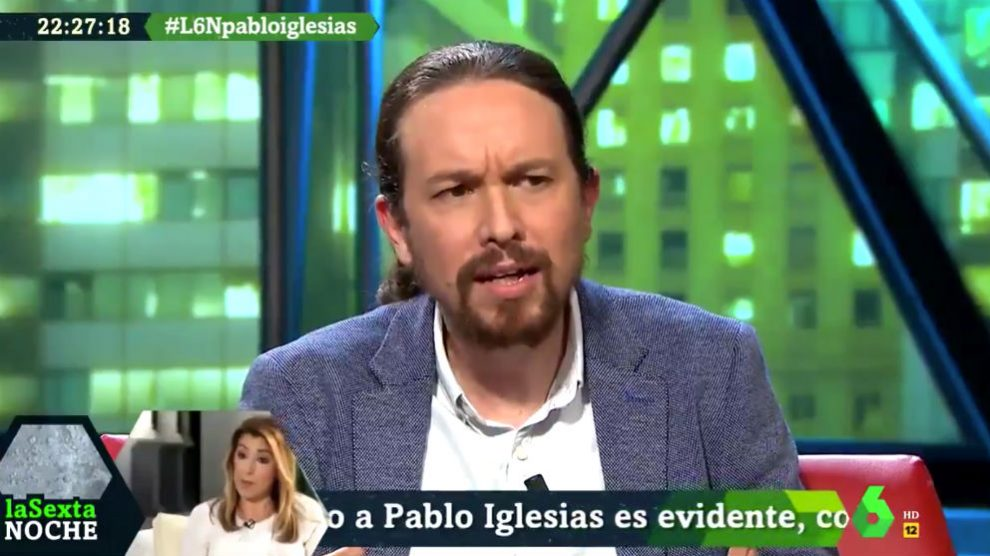 Pablo Iglesias en La Sexta Noche.