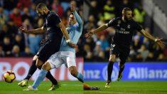 Karim Benzema marcó el primer gol en el Celta – Real Madrid. (AFP)