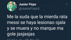 juniiorLos polémicos tuits de Junior Firpo contra Leo Messi.