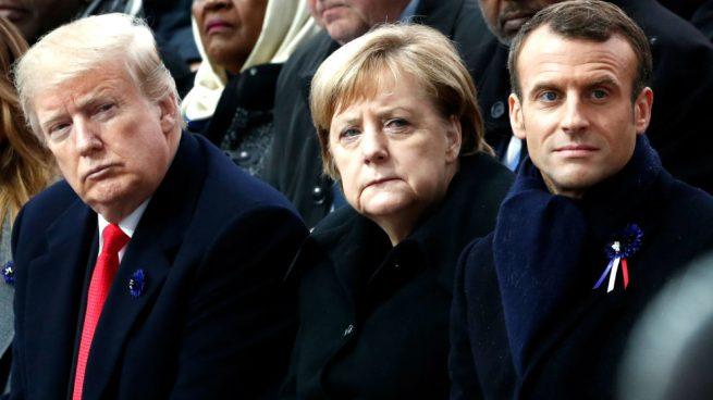 Emmanuel Macron advirtió los peligros del nacionalismo en frente de Donald Trump