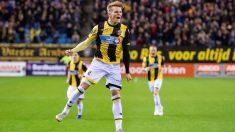Odegaard, celebrando su golazo ante el Utrecht.