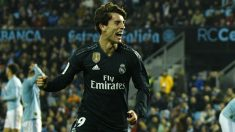 Álvaro Odriozola celebra un gol en el Celta – Real Madrid. (Getty)