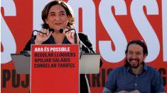 Ada Colau y Pablo Iglesias, este domingo.