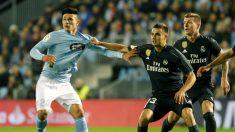 Reguilón durante el Ceta – Real Madrid. (EFE)
