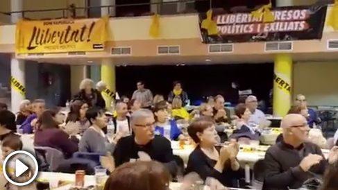 Comida independentista de la ANC en apoyo a los golpistas encarcelados en Cervelló (Barcelona)