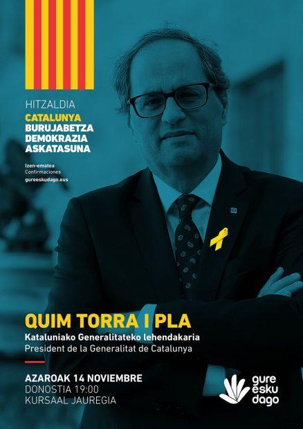 Torra se cita con Otegi en San Sebastián para lanzar el referéndum separatista del domingo