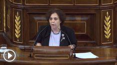 La diputada de Podemos Gloria Elizo, el pasado 20 de septiembre en el Congreso.