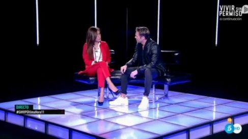 Hugo Castejón en 'GH VIP 2018' visitando a Miriam